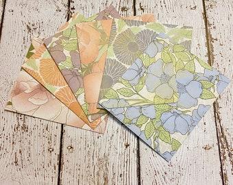 Vintage Florals A2 Envelope Set