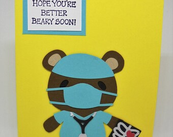 Kids Get Well Card Etsy