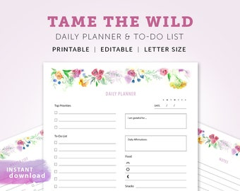 2018 daily planner etsy