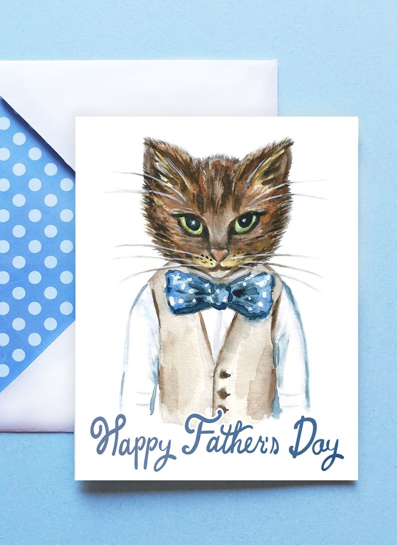 PRINTABLE Happy Father's Day Card with Envelope  image 0