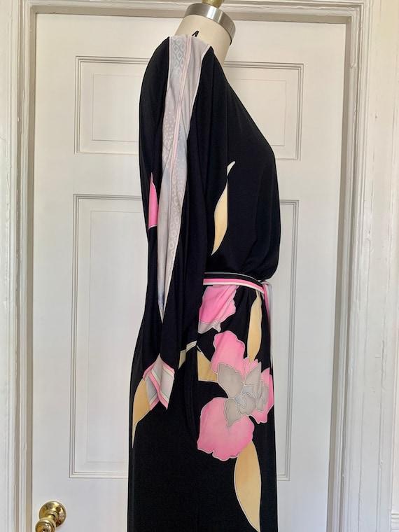 Vintage Late 70s Leonard Paris Silk Jersey Floral… - image 5