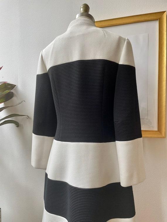 Vintage 60s black and white Lilli Ann knit coat - image 6