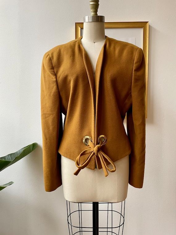 Vintage 80s Anne Klein wool and cashmere jacket