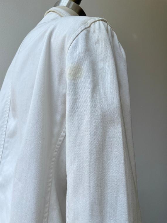 Vintage 80s Ralph Lauren white nautical blazer - image 9