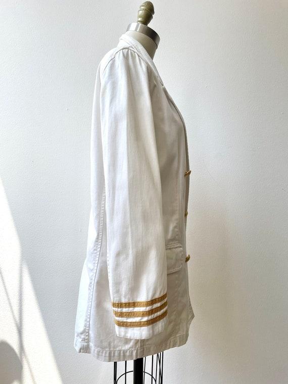 Vintage 80s Ralph Lauren white nautical blazer - image 8