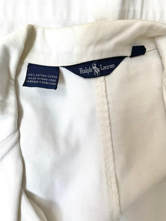 Vintage 80s Ralph Lauren white nautical blazer - image 10