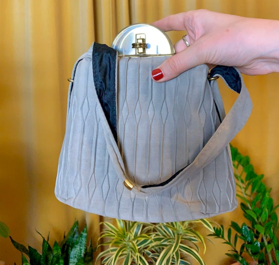 Vintage 1940s Fabric and Lucite Handbag