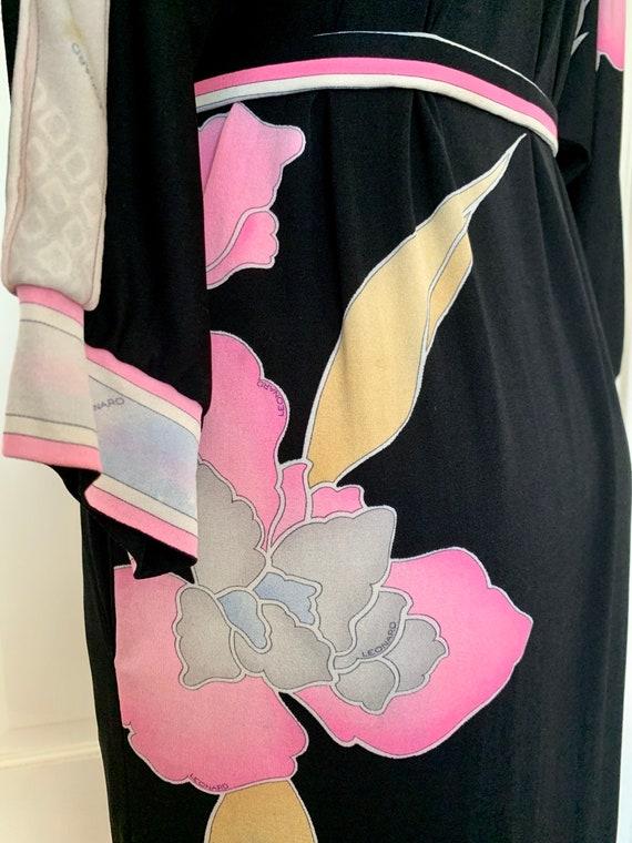 Vintage Late 70s Leonard Paris Silk Jersey Floral… - image 4