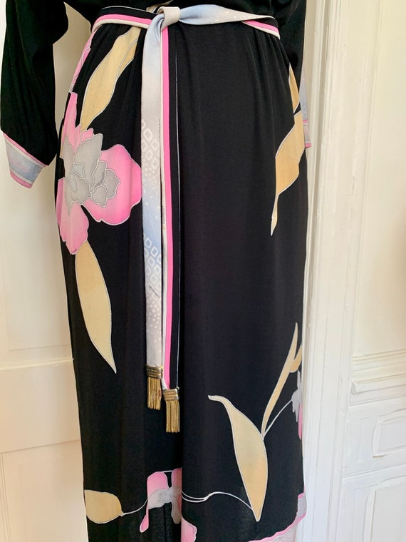 Vintage Late 70s Leonard Paris Silk Jersey Floral… - image 7