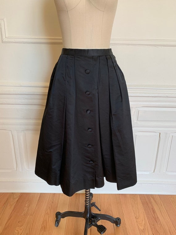 Full Pleated Satin Bullocks Wilshire Skirt • Satin