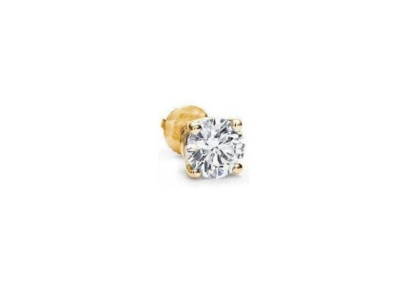 3a280d231 2 carat Round Cut Diamond Single Stud Earring H color I1   Etsy