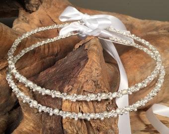 Bridal Crowns Silver Plated Twisted  Wedding STEFANA Minimal n/' Classy  Greek Orthodox Stephana  Wedding Tiaras Handmade