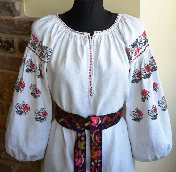 Antique womens shirt  handmade folk wear tradition