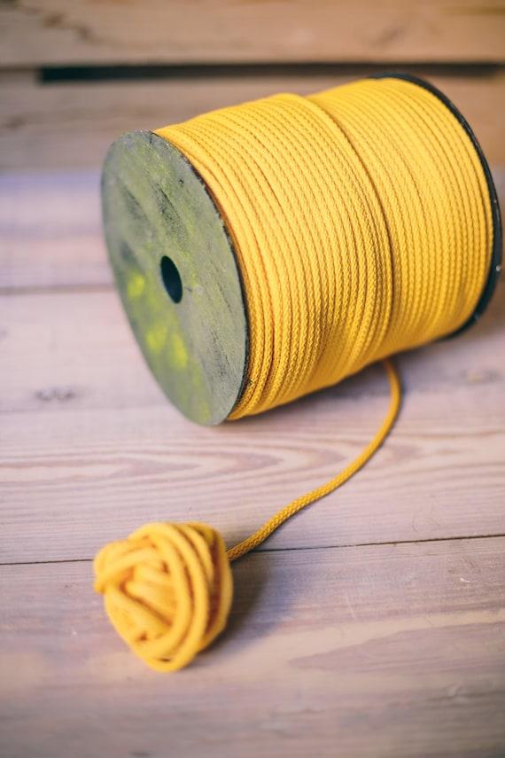 Yellow yarn- macrame cord- crochet cord- crochet yarn- macrame yarn- macrame cord- crochet cord- macrame rope- #10 macrame cord 200 meters