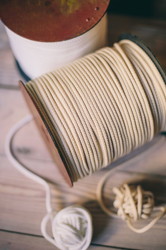 Ivory white Craft yarn- ivory polyester rope- macrame cord- knitting yarn- craft supplies- macrame yarn- crochet yarn-218 yards of cord #03