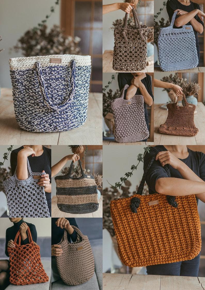 Crochet Pattern Book Crochet Tote Pattern Crochet Handbag Etsy