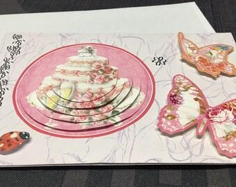 Card 3D wedding butterflies
