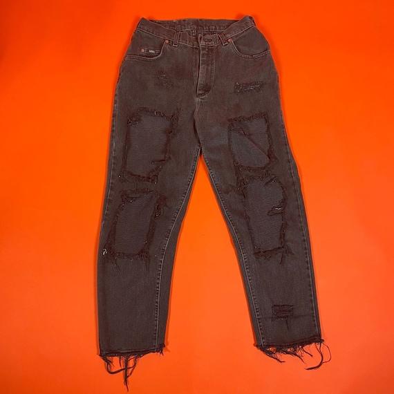 Vintage Lee Custom Ripped Denim Jeans
