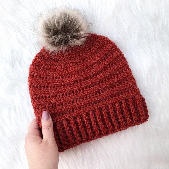 a1e162c369b RTS Terra Cotta Rust Red Women s Crochet Fall   Winter