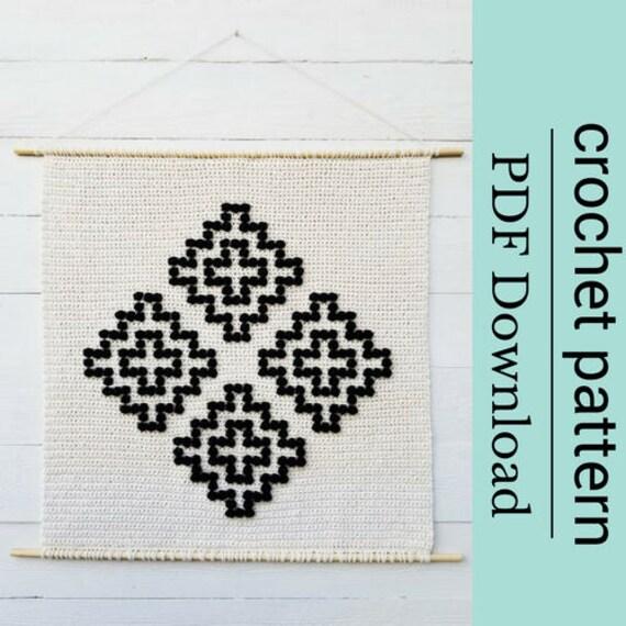 Crochet Swiss Cross Pattern Crochet Bobble Stitch Pattern Etsy