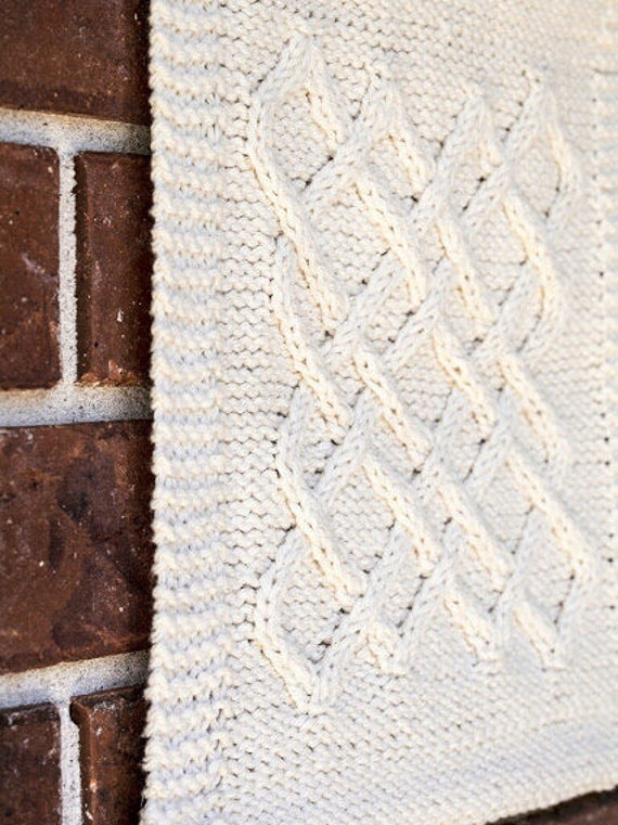 Cable Knitting Pattern Diy Small Lattice Celtic Knot Wall Etsy