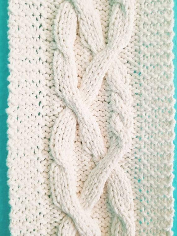 Cable Braid Knitting Pattern Cotton Wall Hanging Pdf Pattern Etsy