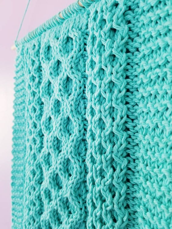 Honeycomb Cable Knitting Pattern Easy Knit Cable Pattern Etsy