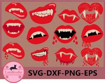 Vampire Teeth Svg Etsy