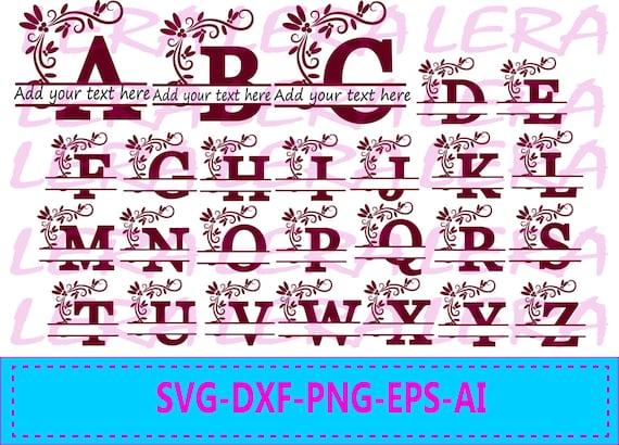 60 Off Alphabet Split Monogram Svg Split Letter Monogram Etsy