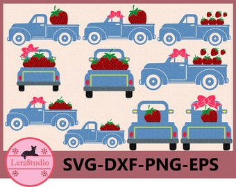 60 % OFF, Strawberry SVG, Truck Svg, Truck Strawberry svg, png, eps, dxf, Silhouette, Cricut Cut files, ClipArt Instant Download
