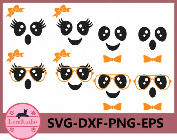 60 % OFF Cute Faces Svg Cute ghost Faces Svg Halloween
