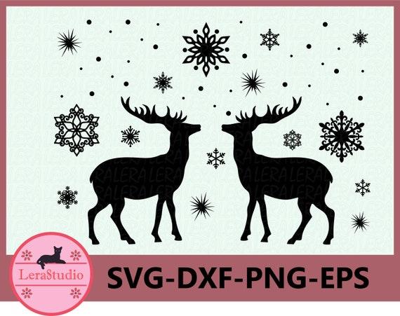 60 Off Deer Svg Deer Winter Svg Deer Silhouettes Svg Etsy
