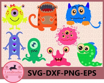 60 % OFF, Monster SVG, Monster Clipart, Monster Party, Monsters Svg, dxf, ai, eps, png, Silhouette,Digital Cutting Files, Monsters Clip Art