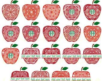 60 % OFF, Apple Mandala SVG, Monogram Apple SVG Frames, Apple Mandala Monogram Frame svg, png, eps, dxf,Apple Split Monogram Svg,Svg Files