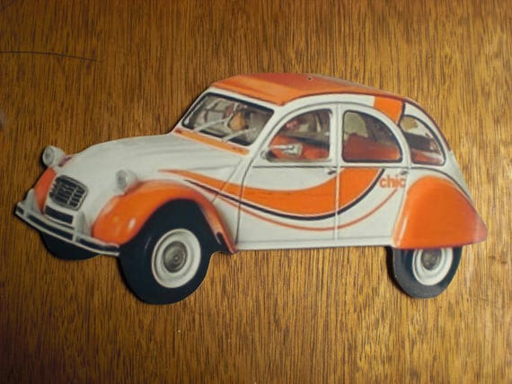 1955 PORTE CLE KEY HOLDER ORANGE Citroen DYANE