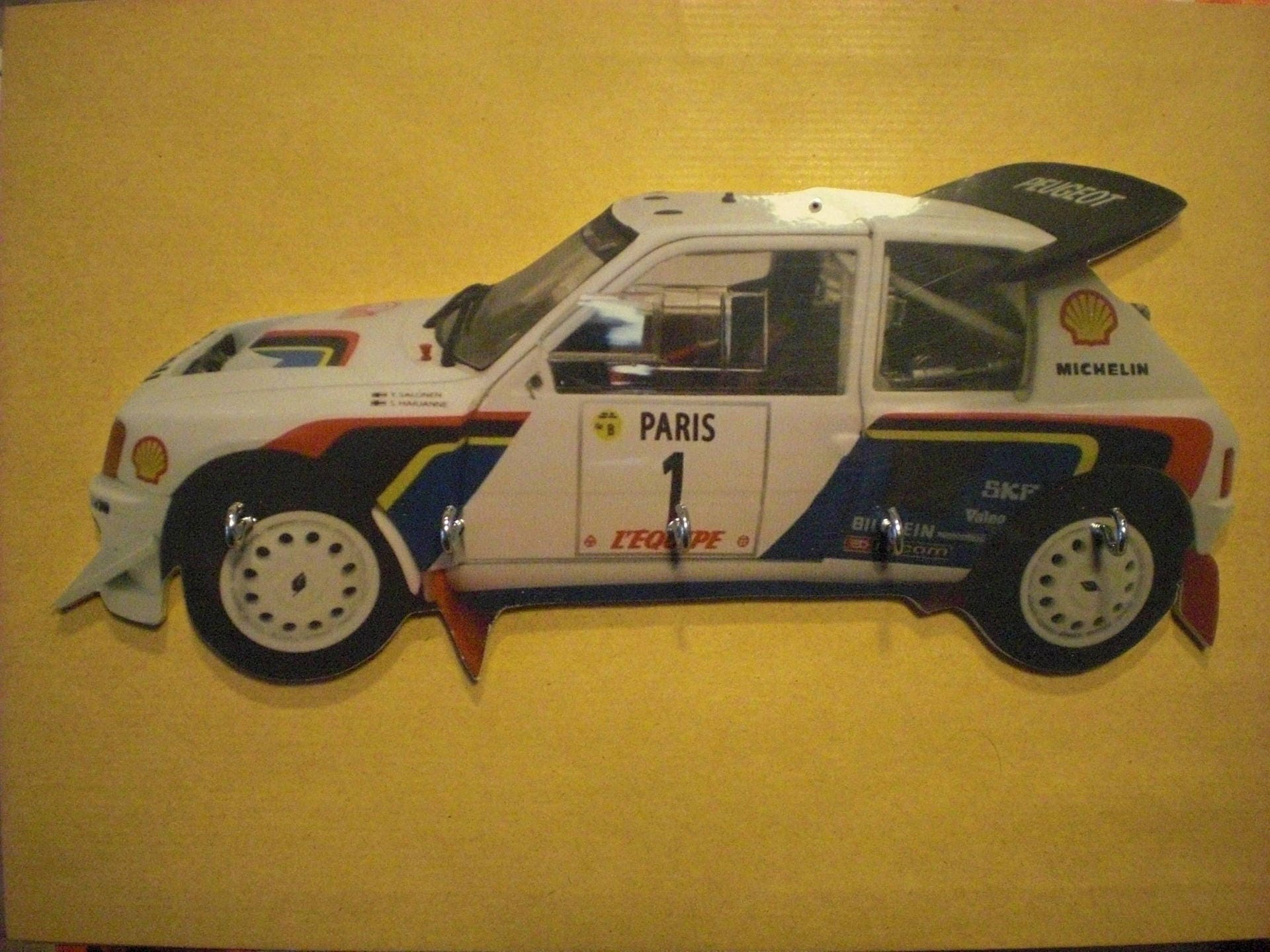 key wall peugeot 205 gti rally / vintage personalised key hook