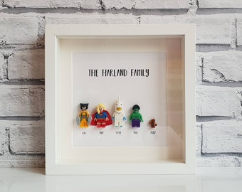 a96d8ecc244 Create your own LEGO Superhero Family Frame!  Personalised • Dogs