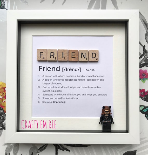 LEGO Friend Definition Scrabble Frame Personalised