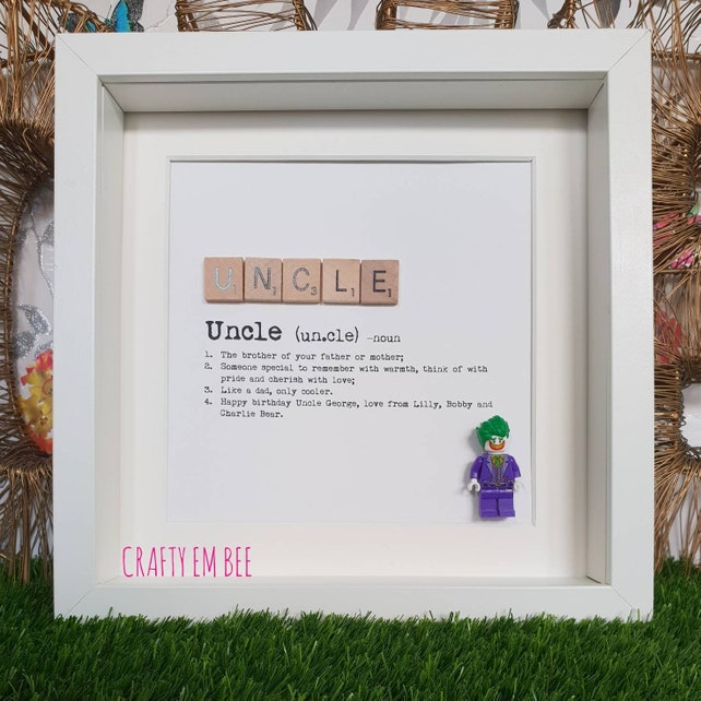 LEGO Uncle or Aunt Definition Scrabble Frame Personalised | Etsy
