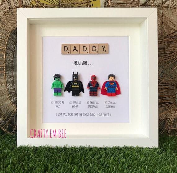 LEGO Superheroes Scrabble Frame Dad Daddy Teacher | Etsy