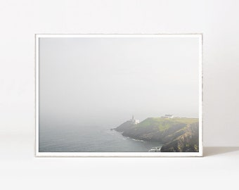 Misty Mountain Cliff Print Mountain Printable Art Foggy Mountain Print Photography Foggy Nature Landscape Art Prints Printable Wall Decor