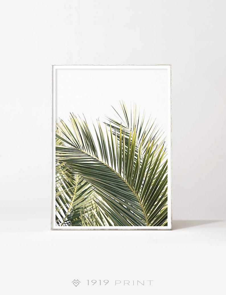 Palm Leaf Print Tropical Wall Art Botanical Print Etsy