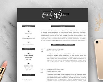 Chic Resume Template | Resume Template | Cover Letter Template | Professional Resume | Modern Resume | Fashion Resume