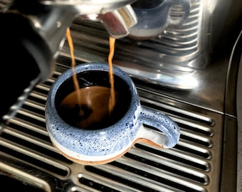 3 oz - Hand Thrown Handmade Ceramic Espresso Cup, Tumbler, Handmade Gift, House warming Gift, Foodie Gift, Macchiato cup