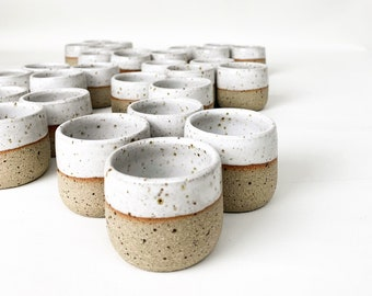 2 oz - 56 ml Hand Thrown Handmade Ceramic Espresso Cup, Tumbler, Handmade Gift, House warming Gift, Foodie Gift, Macchiato cup