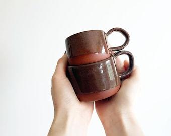 CLEARANCE  Handmade Terracotta Ceramic Mug, Coffee Mug, Tea Mug, Cappucino Mug, Pottery Mug