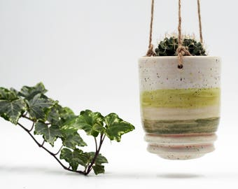 Ceramic Hanging Planter, Indoor and Outdoor Planter, Gift for Her, Housewarming gift