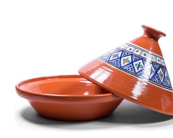 Tagine Cooking Pot Original Morocco Handmade Tajine Morocco 2 Person H 20 X 20cm