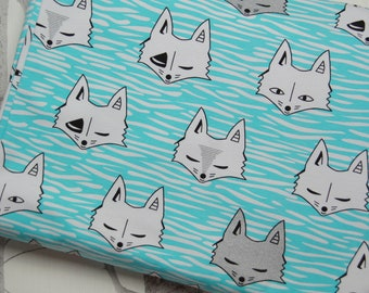 c30f0ffe020 Mint Fox Jersey Fabric | light sweatshirt knit fabric | French Terry Fabric  | fabric for children | baby | dressmaking | clothing sewing