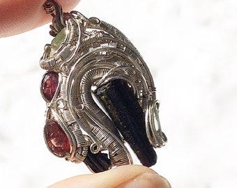 Beautiful and intricate wire wrap pendent